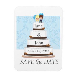 Chocolate Wedding Cake Magnet