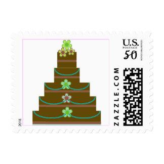 Chocolate Wedding Cake Postage