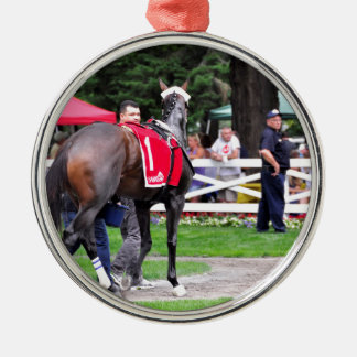 Chocolate Wildcat in the 100th Sanford Stakes Metal Ornament