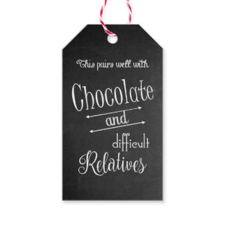 Chocolate & Wine Bottle Wine Tasting Dinner Party Gift Tags