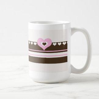 Chocolate with Pink Hearts Coffee Mug