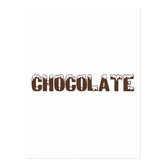 Chocolate (with snow) postcard