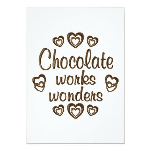 Chocolate Works Wonders 5x7 Paper Invitation Card