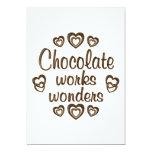 Chocolate Works Wonders Custom Invitation