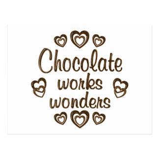Chocolate Works Wonders Postcard