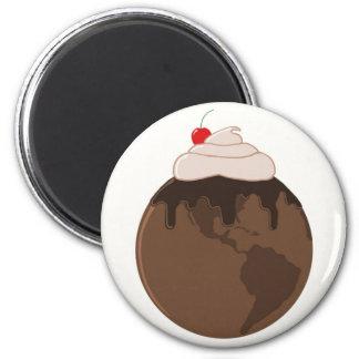 Chocolate World 2 Inch Round Magnet