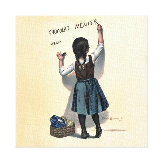 Chocolate Writing Canvas Print