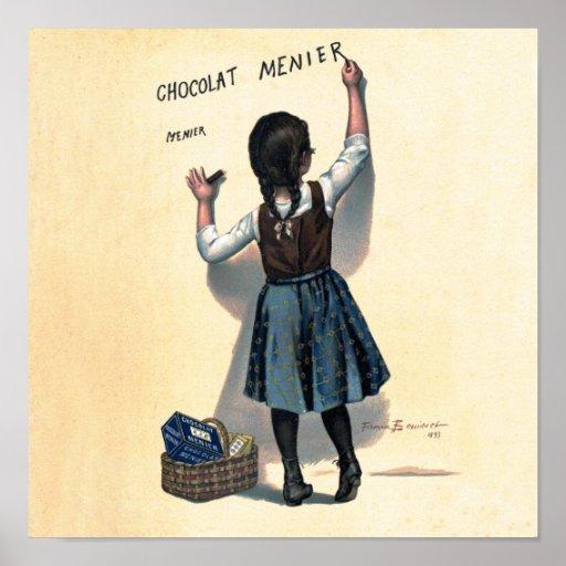 Chocolate Writing Poster