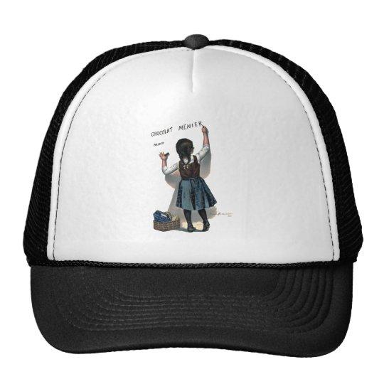 Chocolate Writing Trucker Hat