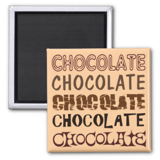 CHOCOLATE X 5 2 INCH SQUARE MAGNET