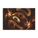 Chocolate y caramelo impresiones en lona estiradas