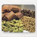 Chocolate y especia alfombrillas de ratón