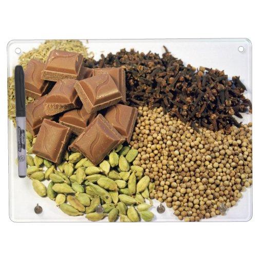Chocolate y especia pizarras