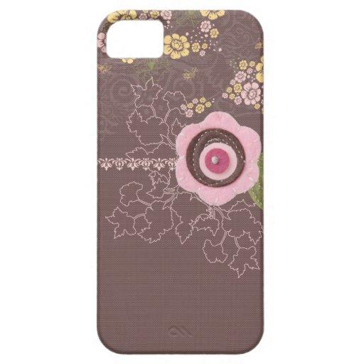 Chocolate y flores iPhone 5 cobertura