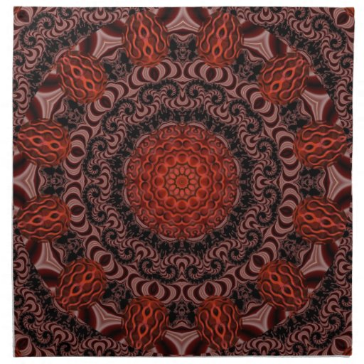Chocolate y fresas, abstractos servilleta de papel