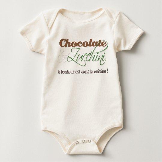 Chocolate & Zucchini Baby Shirt