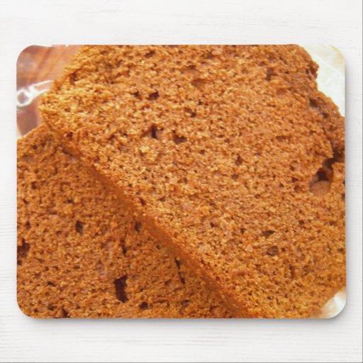 Chocolate zucchini bread mouse pad