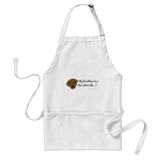 ChocolateLabBrother Adult Apron