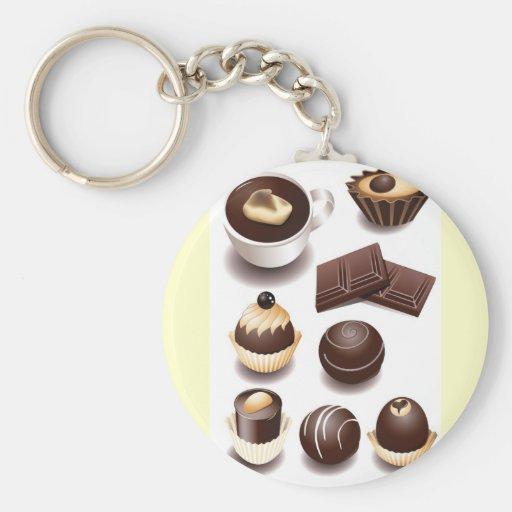 Chocolates2 Llavero Redondo Tipo Pin