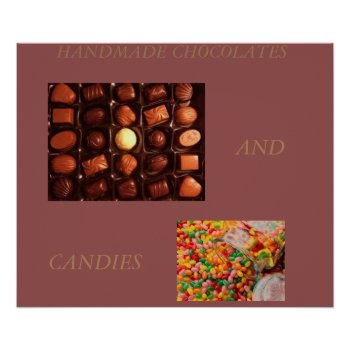 Chocolates And Candy  Art Poster by CREATIVEforBUSINESS at Zazzle