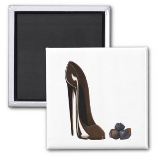 Chocolates and Stiletto Shoe 2 Inch Square Magnet