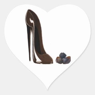 Chocolates and stiletto shoe heart sticker