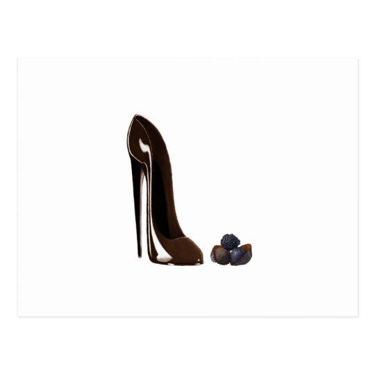 Chocolates and Stiletto Shoe Postcard