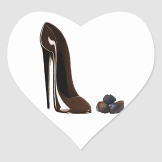 Chocolates and Stiletto Shoe Heart Stickers