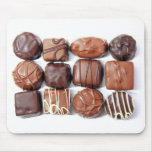 Chocolates clasificados Mousepad Tapetes De Ratón
