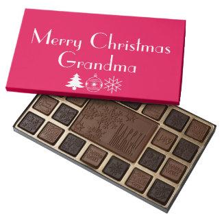 Chocolates de la caja de la abuela de las Felices Caja De Bombones Variados Con 45 Piezas
