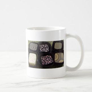 Chocolates de lujo taza de café