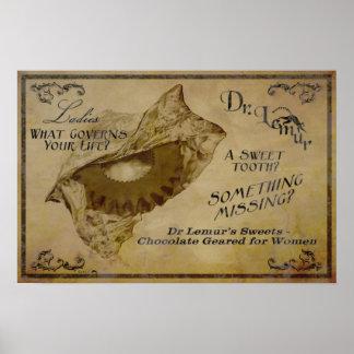 Chocolates del Dr Lemur Poster