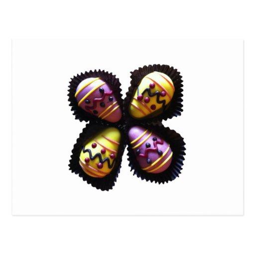 Chocolates del huevo de Pascua Tarjeta Postal