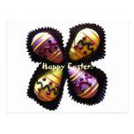 Chocolates del huevo de Pascua Tarjetas Postales