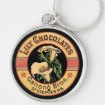 Chocolates del lirio llaveros personalizados