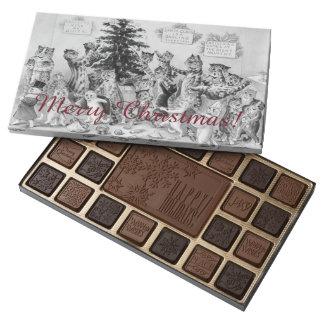 Chocolates del navidad de Louis Wain - gatos del Caja De Bombones Variados Con 45 Piezas
