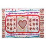 Chocolates dulces del amor n: EMBROMA arte Mantel Individual