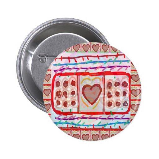 Chocolates dulces del amor n: EMBROMA arte Pin