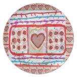 Chocolates dulces del amor n: EMBROMA arte Plato De Comida
