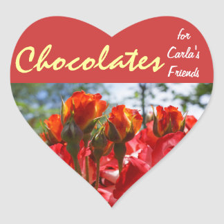 Chocolates for Your Friends stickers Red Roses
