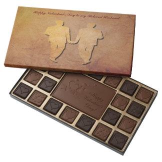 Chocolates gay de papel rústicos rojos de la caja de bombones variados con 45 piezas