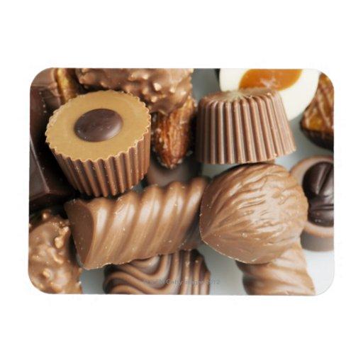 chocolates rectangular photo magnet