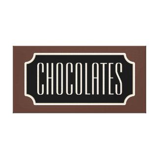 Chocolates Sign Canvas