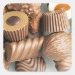 chocolates square sticker