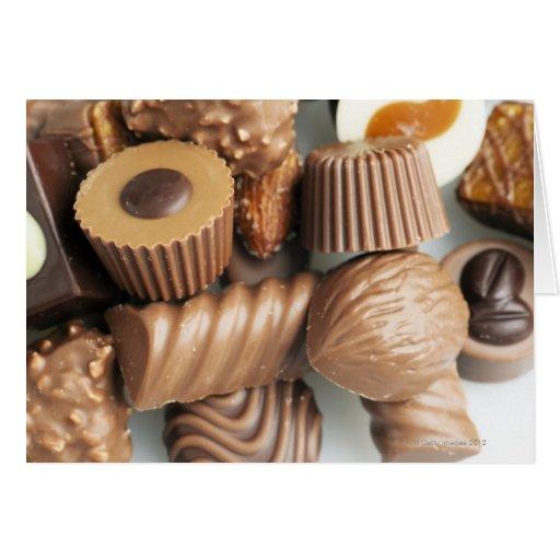 chocolates tarjeta
