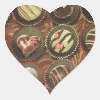 Chocolates & Truffles Heart Sticker