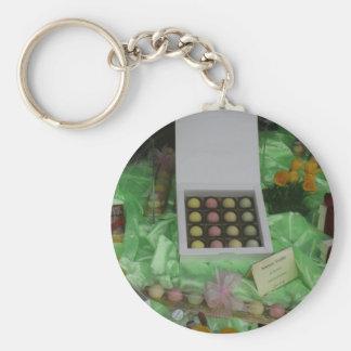 Chocolatier and Patisserie window, Basel Basic Round Button Keychain