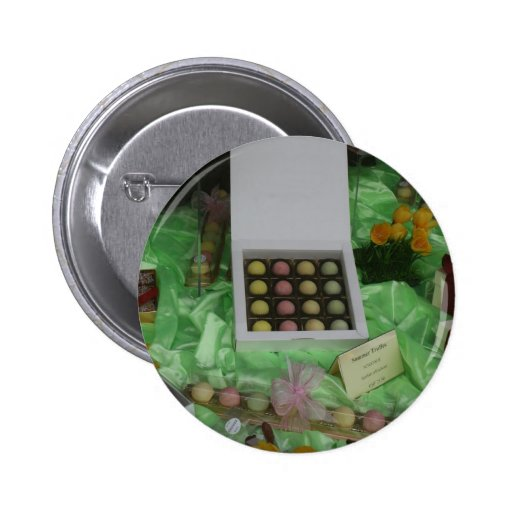 Chocolatier and Patisserie window, Basel Pinback Buttons