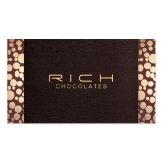 Chocolatier Brown y oro elegantes Tarjetas De Visita