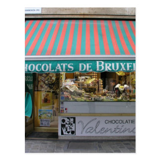 Chocolatier, Bruselas, Bélgica Tarjeta Postal